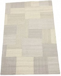 Patchwork-matta - Superior new wool Patchwork (vit)