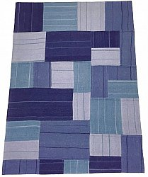 Patchwork-matta - Superior new wool Patchwork (blå)