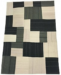 Patchwork-matta - Superior new wool Patchwork (grå)