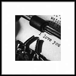 I Love You Typewriter